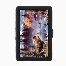 Moose Cigarette Case D1 Metal Wallet Elk Deer Herbivore Mammal Forest Animal