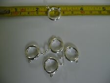 QUALITY 5 large 16mm BOLT RING SPRING CLASPS  SILVER PLATE PLATED on brass