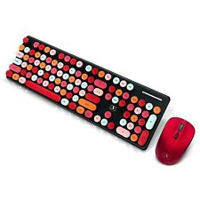 Colorful Computer Wireless Keyboard Mouse Combos, PTN Wireless Keyboard and M...