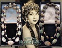 ANTIQUE ART DECO BOHEMIAN CZECH BALLOTINI BEADS FLAPPER NECKLACE RARE BEAUTIFUL