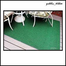 Indoor/Outdoor Green Artificial Grass Turf Area Rug 8'x12' Decks, Yards, Camping