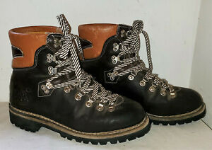 VINTAGE Colorado BROWN LEATHER Mountaineer Trail Boss Hiker Boots 10 M Vibram
