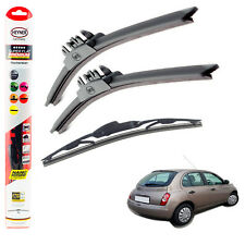 "Fits Nissan Micra 2003-2005 HEYNER SUPER FLAT PREMIUM wiper blades 21""18""12""C"