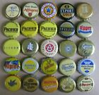 25 DIFF YELLOW THEMED FOREIGN INTERNATIONAL MOST OBSOLETE BEER BOTTLE CAPS