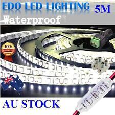 Waterproof Cool White 600 LED DC 12V 5M 3528 SMD Leds Strip Light Dimmer caravan