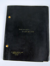 Ernest Hemingway Play Script Of Love and Death 1961 original AE Hotchner MCA H&H