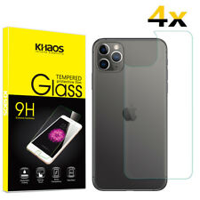 4-Pack Khaos For Apple iphone 11 Pro Max Tempered Glass Back Screen Protector