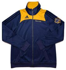 ADIDAS LA Galaxy MLS David Beckham Soccer Jacket Blue Yellow Medium to Large Fit