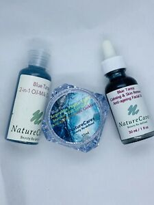 NatureCares Anti-ageing & Calming Blue Tansy Collection: Cleanser/Face Cream/Oil