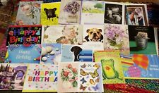 20 Assorted All Occasion Greeting Cards Various Designs Half are Birthday Lot B