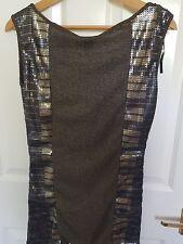 Black & Gold sequin dress, size S