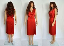 Cocktail dress Size UK 14, 16 elegant red satin formal pleated cocktail evening