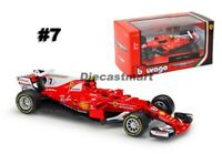 Ferrari Racing F1 SF70H Kimi Raikkonen # 7 by Bburago 1:43 18-36805 Red 2017