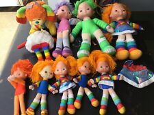 Vintage Rainbow Brite Lot Of 10  Dolls Lg & Small, Sprite, Dog VGU