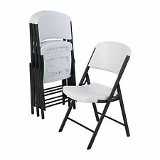 4-Pack Folding Chairs White Wedding Events Parties Commercial Grade Lifetime
