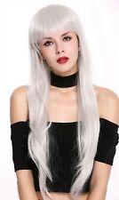 Ladies' Wig Cosplay Long Fee Fairytale Smooth Fringe White White-Grey