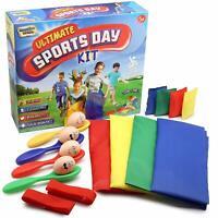 KreativeKraft Sports Day Kit for Kids All Included Sacks, Bean Bags,Egg &Spoons