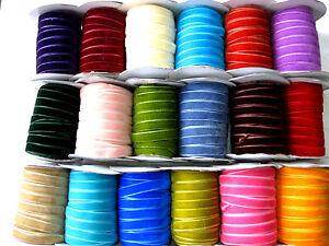 5 Meter Samtband,Borte,Farbe wählbar, 10mm breit,  (3) (0,96€ pro Meter)