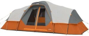 CORE Equipment 11 Person Extended Dome Tent 18x9 Feet Cabin Tent Gray/Orange ✅
