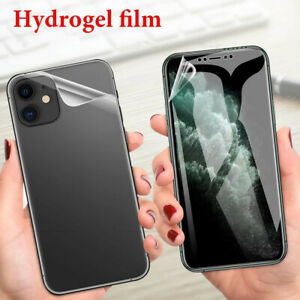 For iPhone 12 11 Pro XR XS 8 TPU Hydrogel FILM Screen Protector Front+Back Film