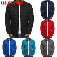 Men's Puffer Bubble Down Jacket Coat Bomber Lightweight Quilted Padded Outwear