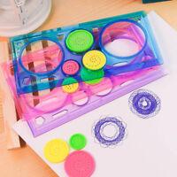 3D Painting Multi-function Spirograph Children Drawing Plastic Ruler Shaper Sets