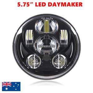 "Motorcycle 5.75"" LED DAYMAKER headlight Harley XL DYNA FLSTS FXSTS VRSCD FXCW"