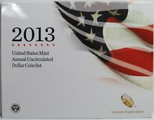2013 US Mint Annual Uncirculated Dollar Coin Set - Burnished Silver Eagle