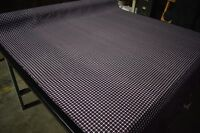 "Nomex Aramid Canvas Twill Fabric Navy Blue Plaid 7 Oz 64"" Soft Flame Retardant"