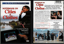 DVD Wim Wenders NOTEBOOK ON CITIES & CLOTHES Yohji Yamamoto fashion WS R1 OOP