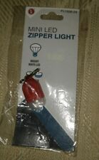 Mini Bright White Led Zipper Light Flashlight Red 2 Cr1220 Batteries Included Se