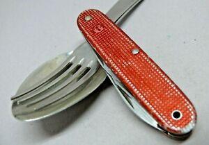 1967 Elsener / Victorinox 93mm model 1961 Red alox soldier Swiss Army Knife