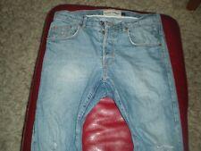 Topman, Skinny CAROTA, 32R e Sbiadito Strappato al ginocchio, Jeans