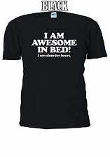 I Am Awesome In The Bed I Can Sleep T-shirt Vest Tank Top Men Women Unisex 1042