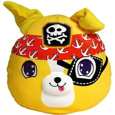 """MUSHMILLOWS Yellow PIRATE 14"""" Super Soft Stretchy PUPPYAll Ages ~ New with Tags"""
