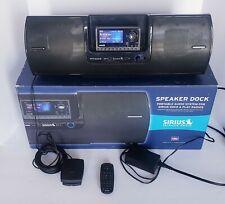 Sirius Satellite Radio Boombox SUBX2 Speaker Dock & Play Original Box Excellent