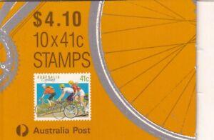 Australia 1989 Sports Series 41c Cycling booklet, MNH