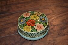 D10- Riley's Toffee Floral Print Tin