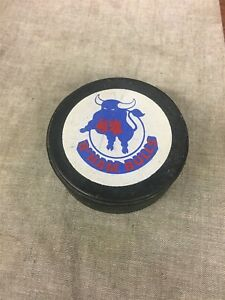 """Vintage Birmingham Bulls WHA STAMPED """"OFFICIAL"""" & """"MADE IN CANADA"""" Hockey Puck"""