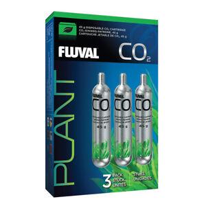 Fluval pressurised CO2 disposable cartridge 45g 3 pack - 17556