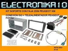 Soporte auto-radio PEUGEOT  308  MARCO RADIO 2 DIN + CONEXION ISO+AD. ANTENA