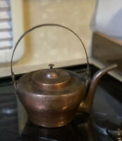 Antique Copper Kettle French Hand Hammered Dovetail Seam 18th Century 19th Old