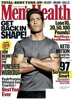 MEN'S HEALTH MAGAZINE JANUARY/FEBRUARY 2019-JON BERNTHAL & THE PUNISHER WORKOUT