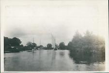 Angleterre, Voiliers sur l'eau, ca.1905, vintage silver print Vintage silve