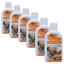 Warda Saunaaufguss Set 6x 200 ml freie Duftwahl + Probe Mentholkristalle