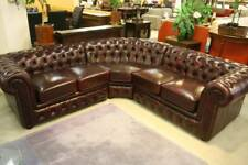 A Modular Corner Chesterfield Suite 100% Leather 5 Year Warranty