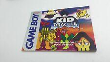 Notice Nintendo Game Boy Gameboy Kid Dracula FAH