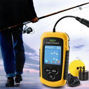 Lucky Fish Finder Water Depth 100M Alarm Portable Sonar sensor Fishing lure New
