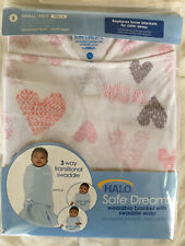Halo Sleep Sack Swaddle Wearable Fleece Blanket Pink Size Small 3-6 Months New