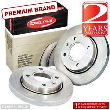 Rear Delphi Brake Discs 296mm ø Solid Pair - Replacement Axle Set BG3969